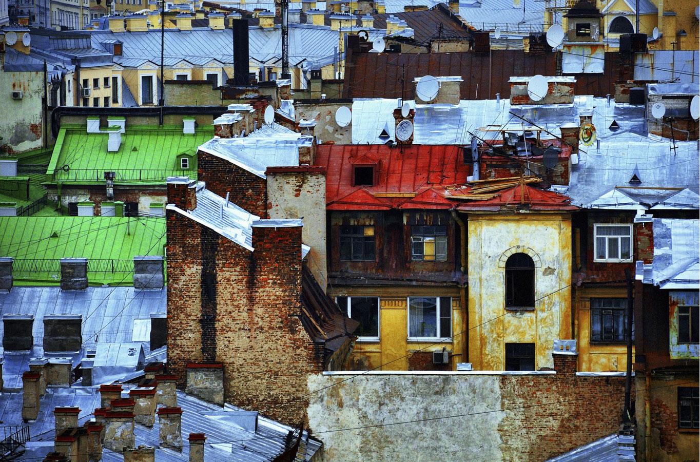 Эклектика питерских крыш..., © Владимир Пальчик