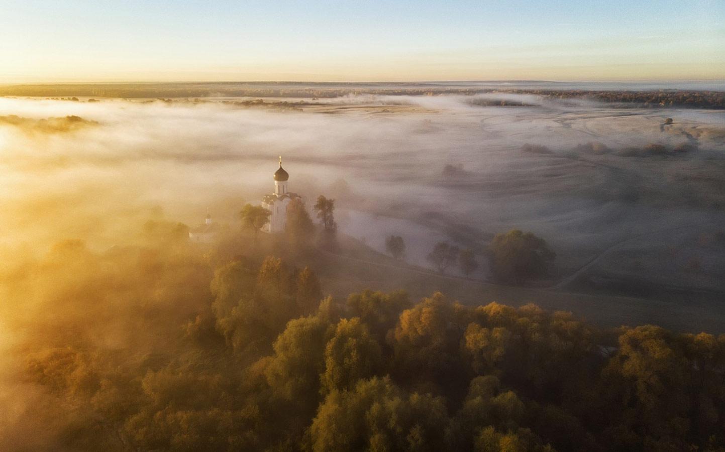 Восход в Боголюбово, © Елена Щипкова