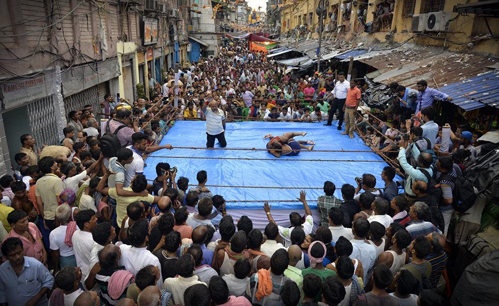 Уличная борьба, © Амит Мулик, Индия, 3-е место : Спорт : Одиночные работы, Конкурс фотожурналистики имени Андрея Стенина