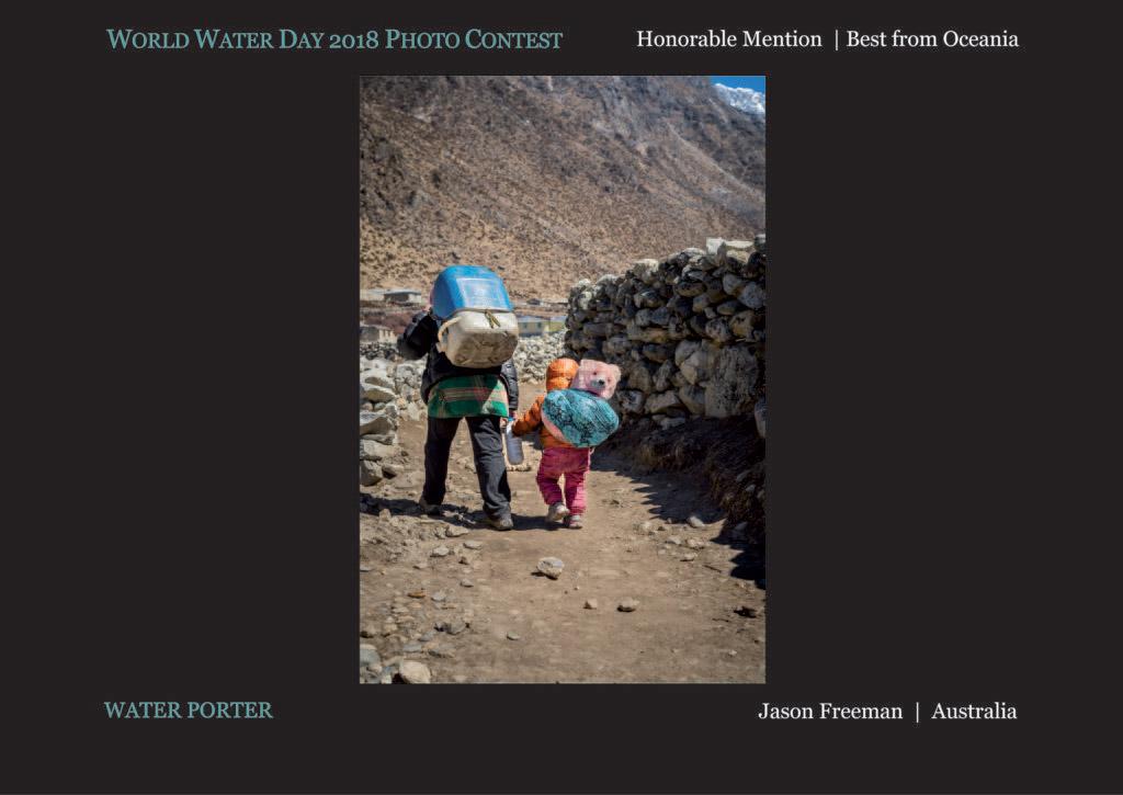 Водный носильщик, © Джейсон Фриман, Почётный приз «Лучший в Океании», Фотоконкурс Всемирного дня воды — World Water Day