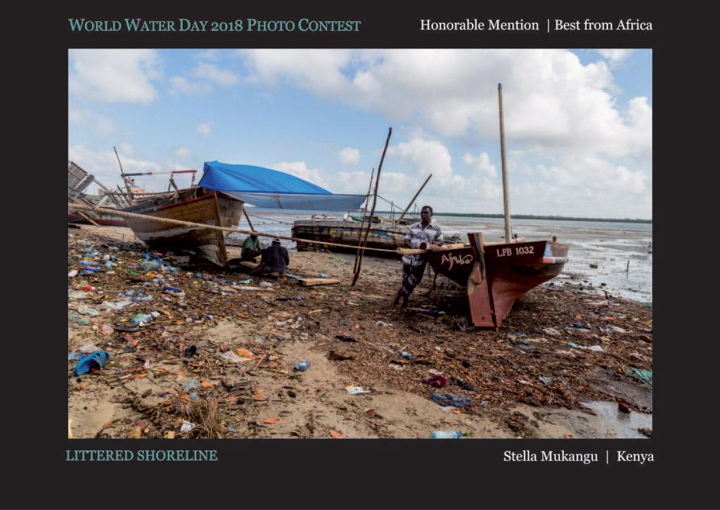 Замусоренный берег, © Стелла Мукангу, Почётный приз «Лучший из Африки», Фотоконкурс Всемирного дня воды — World Water Day
