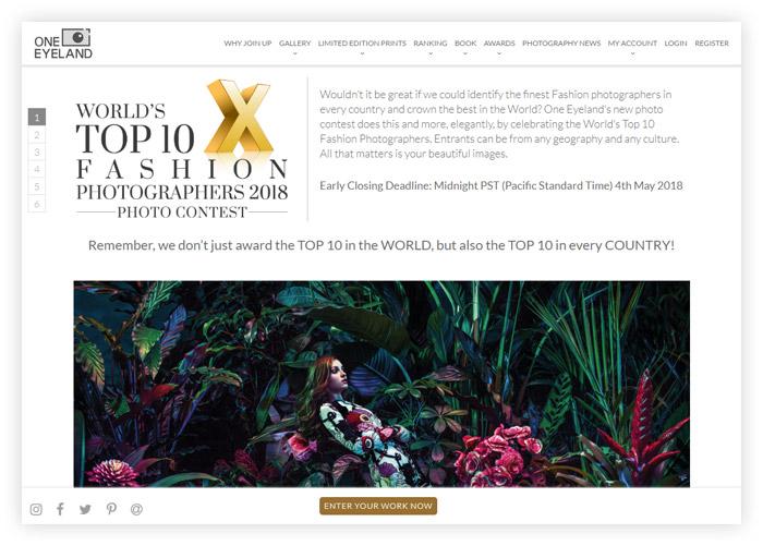 Фотоконкурс «10 лучших мировых фотографов моды» — World's Top 10 Fashion Photographers