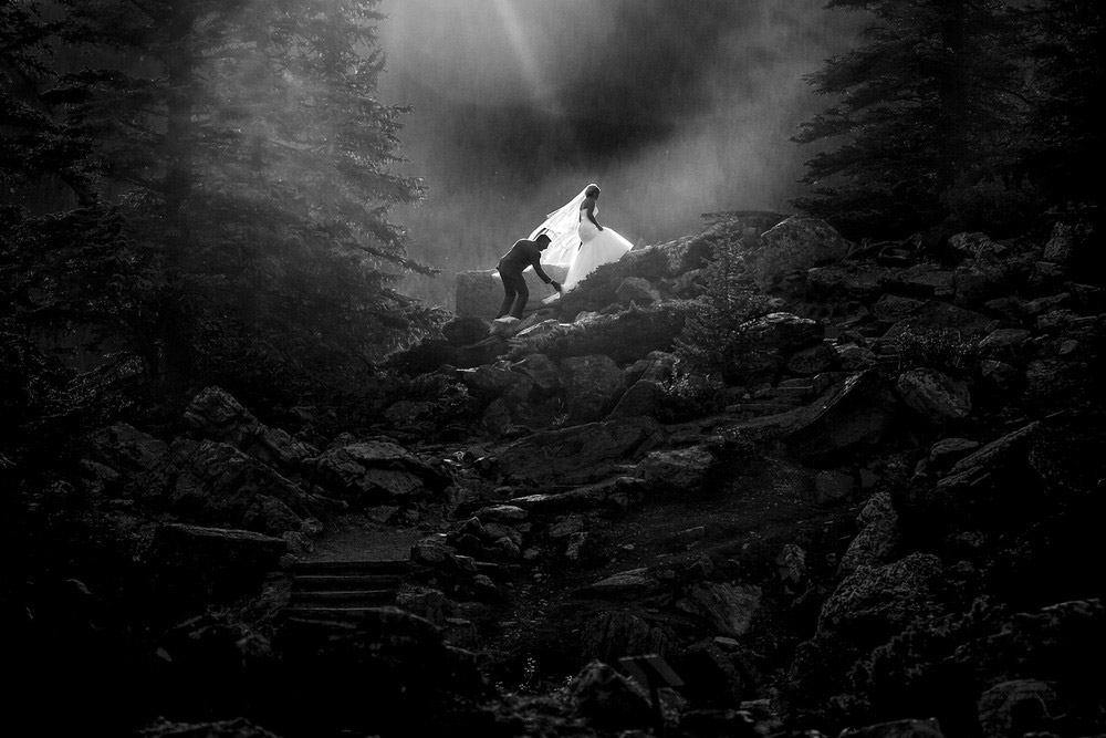 Ранг #9 (44 балла), © Лэнни Манн, Канмор, Альберта, Канада, Фотоконкурс «10 лучших мировых свадебных фотографов»