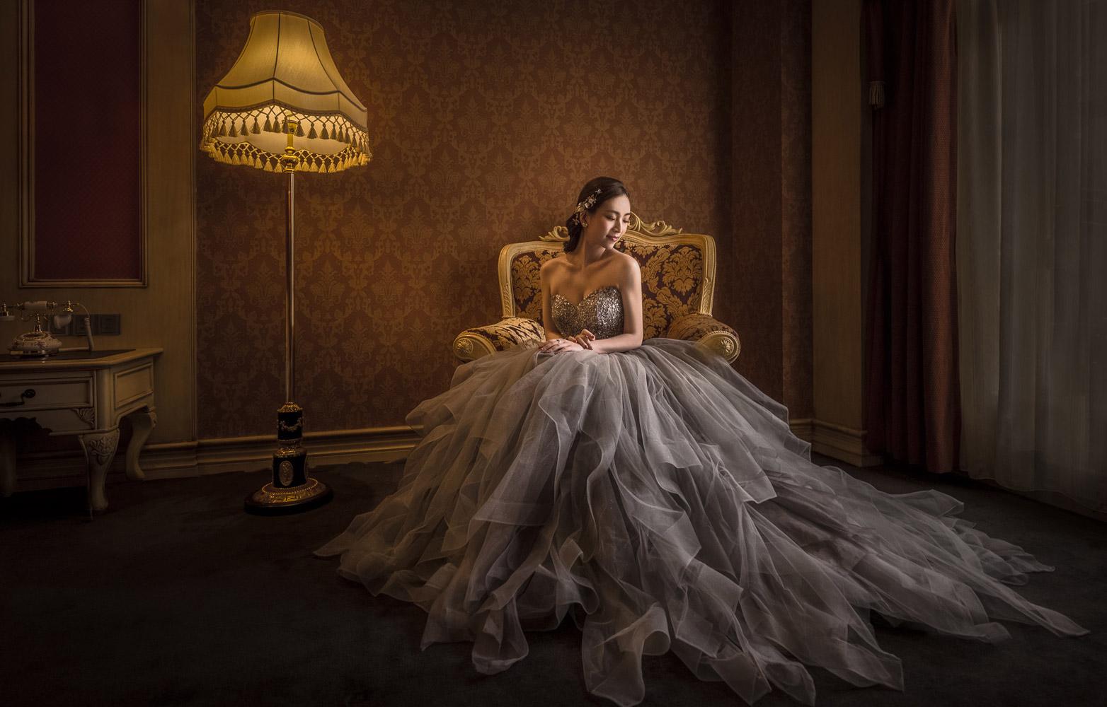 © Питер Лю / Peter Liu, Первое место в категории «Свадьба — Невеста в одиночестве: День свадьбы», Фотоконкурс WPPI Second Half Competition