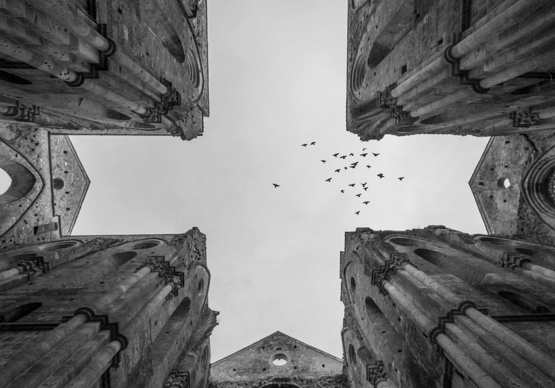 Священное небо, © Валерио МЭИ, 2-е место в категории «Архитектура», непрофессионал, Фотоконкурс «Зебра» — Zebra — Чёрно-белый фотограф года