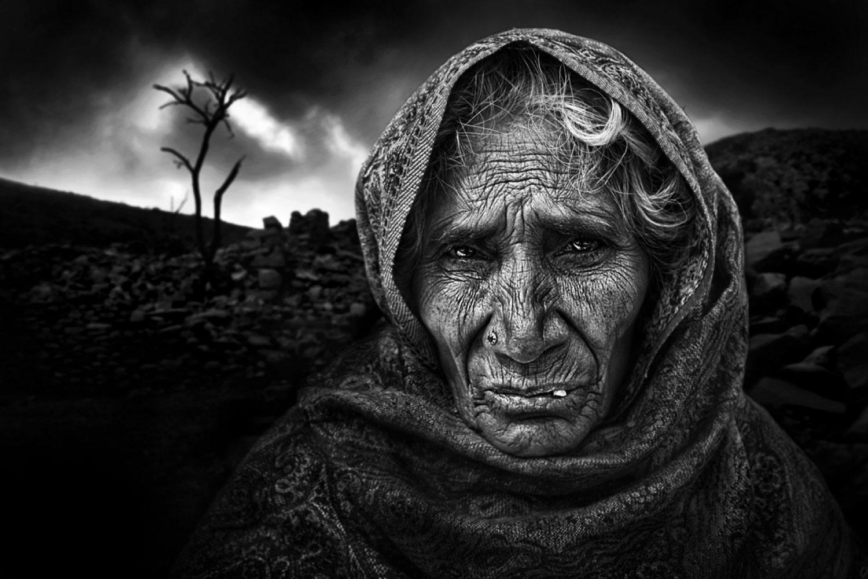 Бесконечная печаль, © Луис Мария БАРРИО, 2-е место в категории «Художественная фотография», непрофессионал, Фотоконкурс «Зебра» — Zebra — Чёрно-белый фотограф года