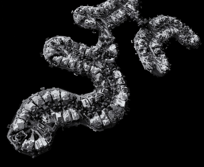 Поместья на канале, © Стюарт Чапе, 1-е место в категории «Архитектура», профессионал, Фотоконкурс «Зебра» — Zebra — Чёрно-белый фотограф года
