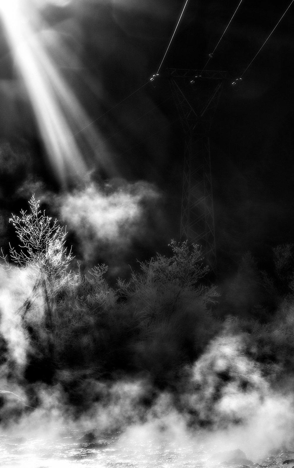 Графика зимнего света в Вальцеллине, © Стефано Сиол, 1-е место в категории «Художественная фотография», профессионал, Фотоконкурс «Зебра» — Zebra — Чёрно-белый фотограф года